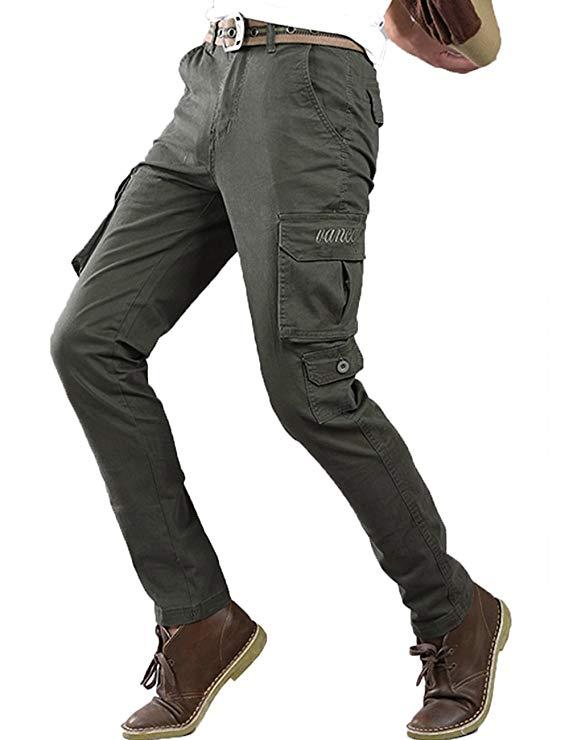 Berkron Đa túi quân phục quần nam cotton Mỏng mùa thu và mùa đông dày stretch quần âu off-road đào t