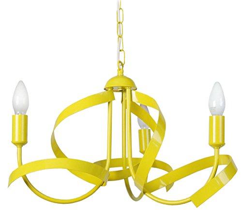 Tosel 20121 Monaco đèn chùm thép / sắt / vàng epoxy sơn 40 Wát E14 52x67 cm