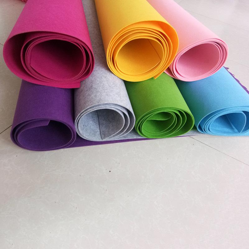 [Màu len cảm thấy] cung cấp tiêu chuẩn Châu Âu màu sợi hóa học pha trộn cảm thấy vải polyester kim đ
