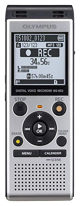 Olympus Olympus WS-852 Máy ghi âm 4 GB Bộ nhớ Cổng USB Bao gồm Pin