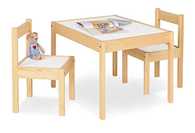 Nội Thất căn hộ : Bộ bàn gỗ gồm 2 ghế dành cho trẻ Em .
