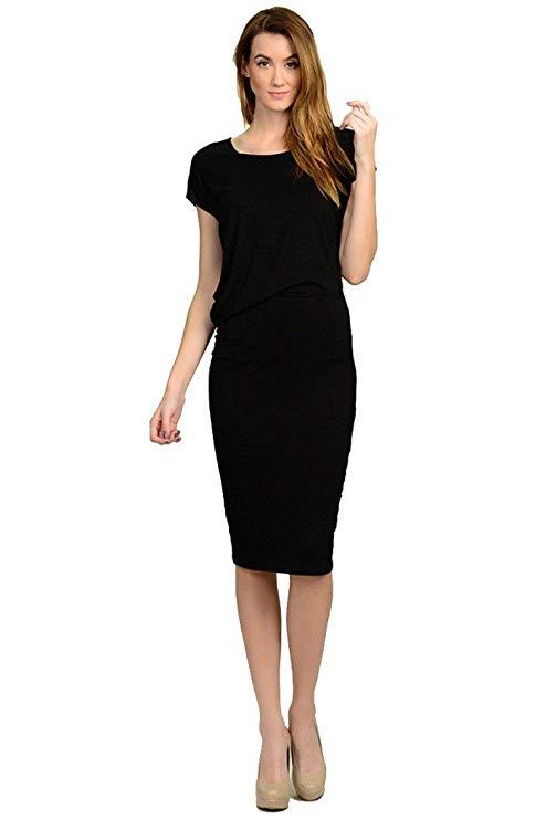 Thích hợp cho phụ nữ rayon slint eo ngắn tay áo thời trang đầm