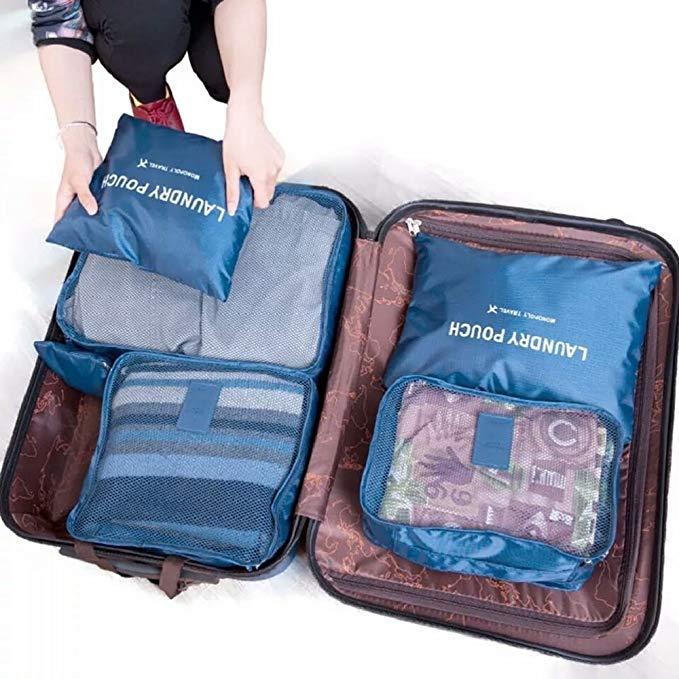 Túi lưu trữ nylon 6 túi du lịch bền, quần áo phân loại túi