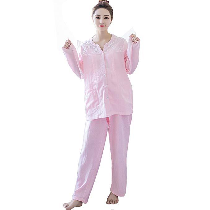 Đồ bộ cotton mặc nhà cho bà bầu màu hồng CIYAN