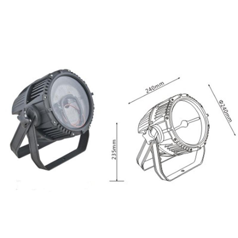 LED lũ ánh sáng nhà ở không thấm nước 54W chiếu ánh sáng nhà ở 235mm vòng lũ ánh sáng kit bán buôn