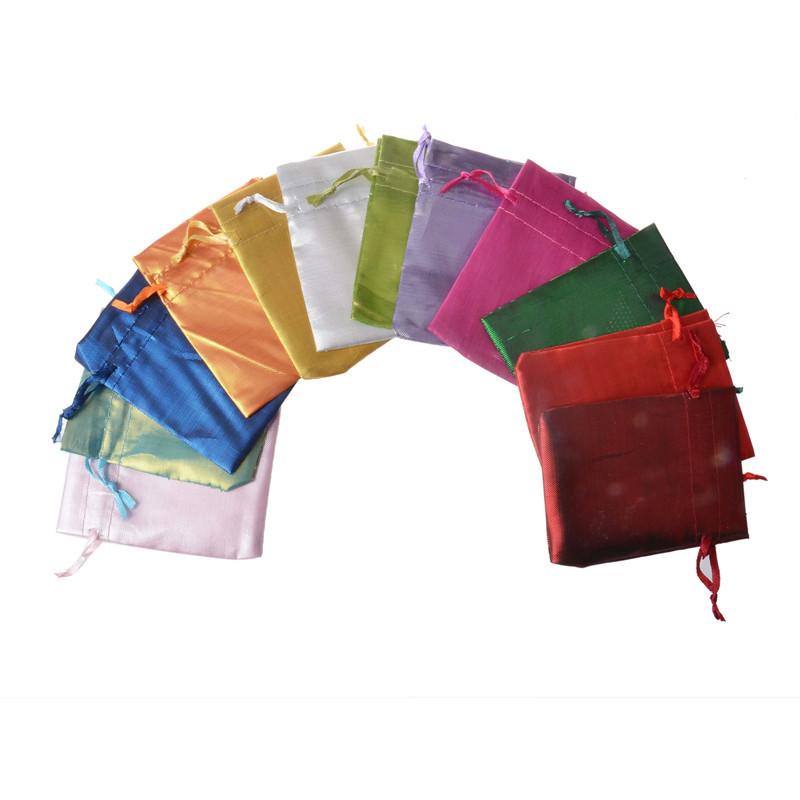 Nhiều màu tùy chọn túi satin bó satin túi màu- thay đổi đồ trang sức túi satin túi quà tặng đồ trang