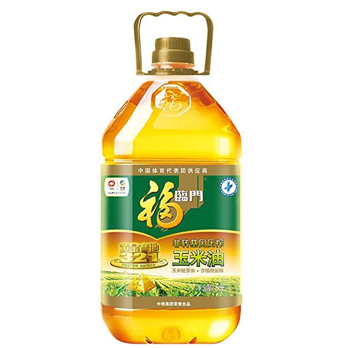 Fulinmen Non-GMO ép vàng xuất xứ ngô dầu ngô mầm dầu giàu trong phytosterols (5L gia đình gói)