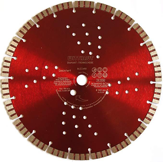 WITTHAUT kim cương công cụ đĩa kim cương, đường kính 300-20 mm, đen