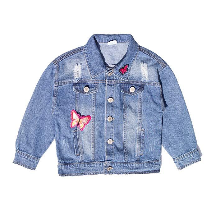 Áo khoác jean denim trẻ em tay dài, chất liệu bền đẹp