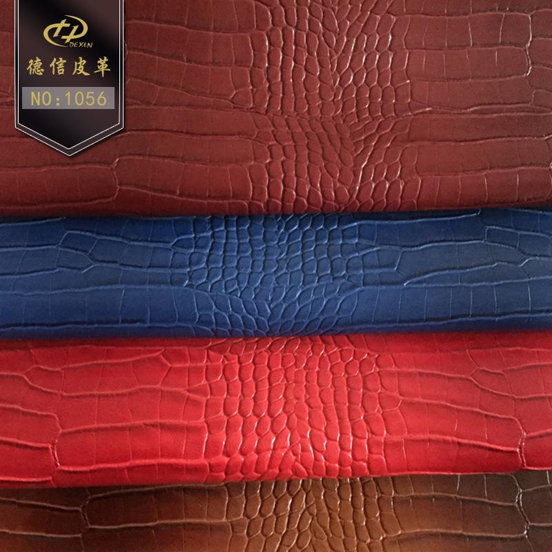 Nhà máy trực tiếp mô hình bằng đá, mô hình cá sấu PVC da da tổng hợp hành lý giày da vải