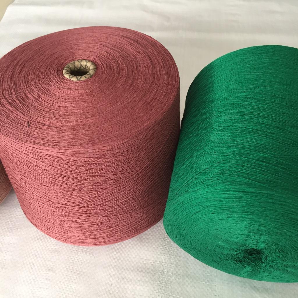 Sợi bông 60NM / 2 55% sợi tơ tằm 45% cotton sợi bông pha trộn