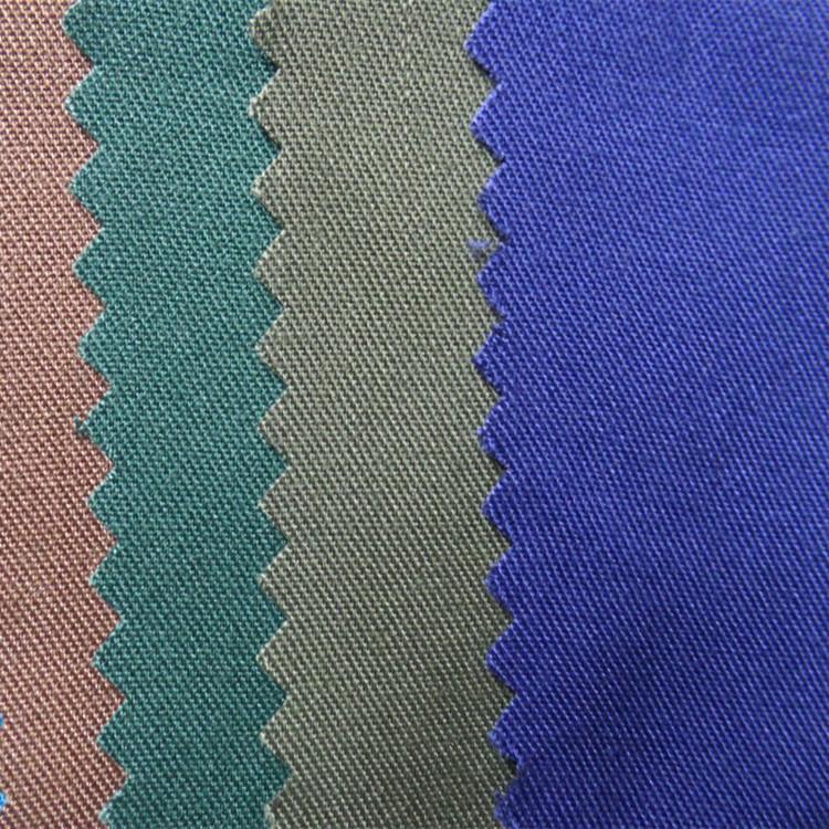 Tại chỗ 30 * 30 cotton twill vải Nam cotton đơn phải đối mặt twill đồng bằng vải 2/1 xiên áo quần