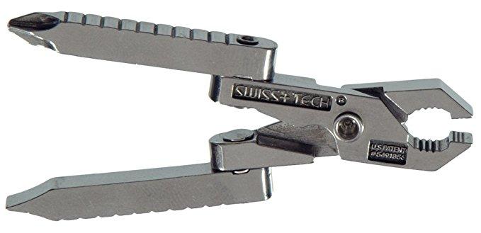 SWISS + TECH công nghệ Thụy Sĩ ST50022 đánh bóng thép không gỉ sáu-trong-một đa chức năng keychain c