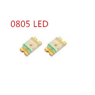 0805 vá trắng LED LED trắng trắng trắng ánh sáng trắng