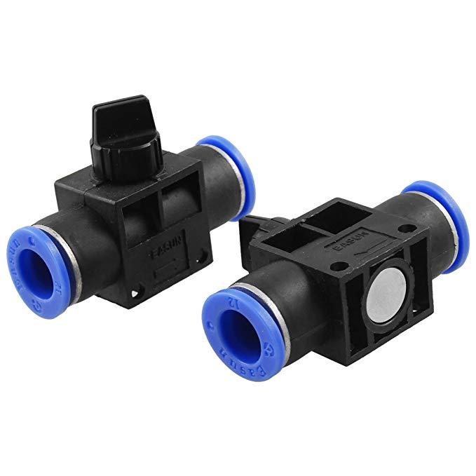 2 miếng 12mm đến 12mm một chạm gắn kết khí nén kết nối tay van