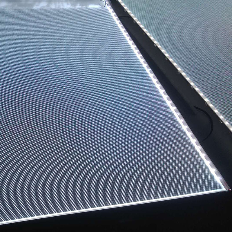 Laser dot ánh sáng hướng dẫn chế biến tấm độ sáng cao Mitsubishi Acrylic ánh sáng hướng dẫn tấm các