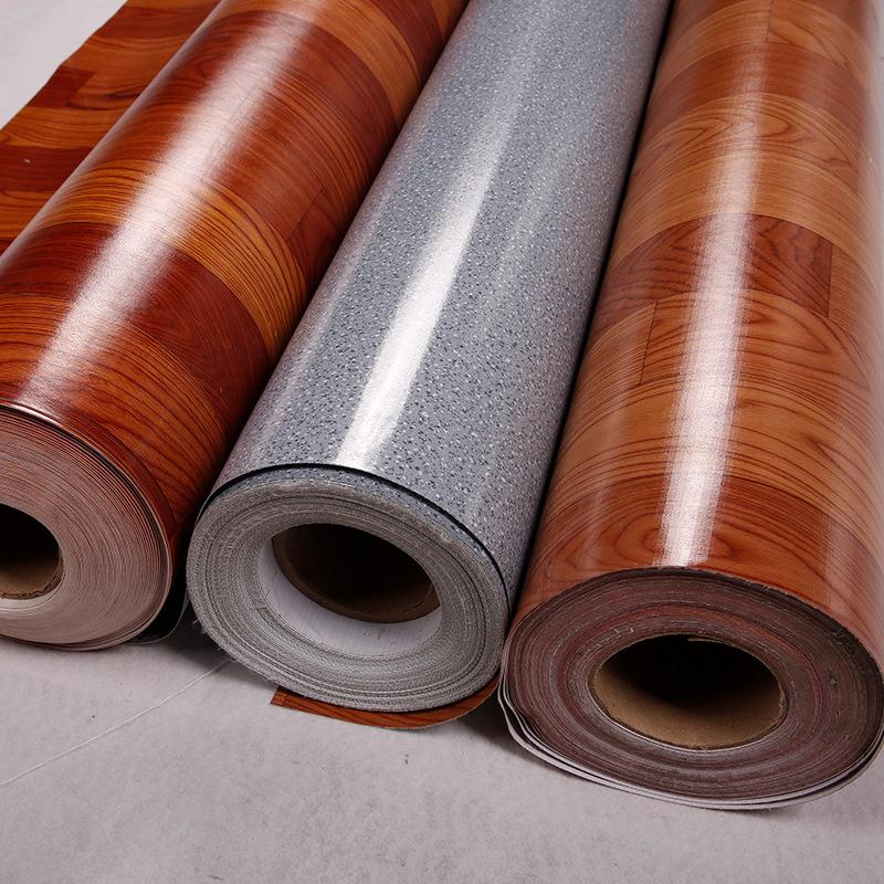 Nhựa PVC sàn da nhựa sàn keo dày chịu mài mòn không thấm nước không trượt tấm cao su màu xanh lá cây