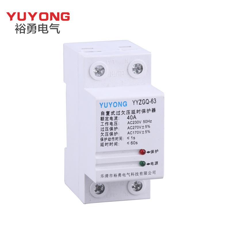 Nhà máy trực tiếp YYZGQ-63 2P tự thiết lập lại thiết bị bảo vệ trễ điện áp 40A