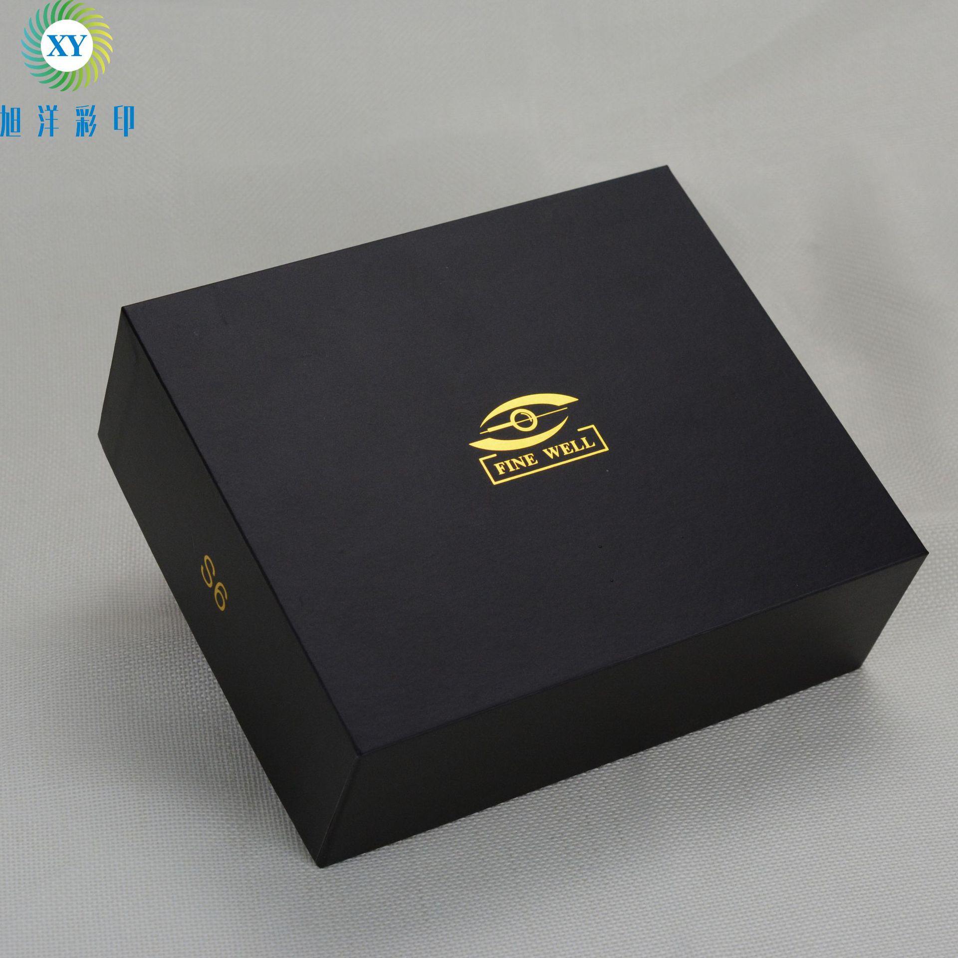 Tùy chỉnh thế giới màu đen bìa hộp Bán Buôn hộp thế giới hộp quà tặng LOGO dập nóng có thể được tùy