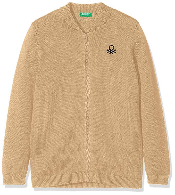 Áo khoác len tay dài màu nâu UNITED COLORS OF BENETTON