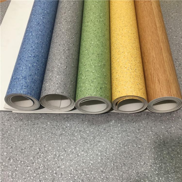 PVC sàn cao su văn phòng trung tâm mua sắm chịu mài mòn sàn nhựa da dày màng chống thấm cao su nhựa