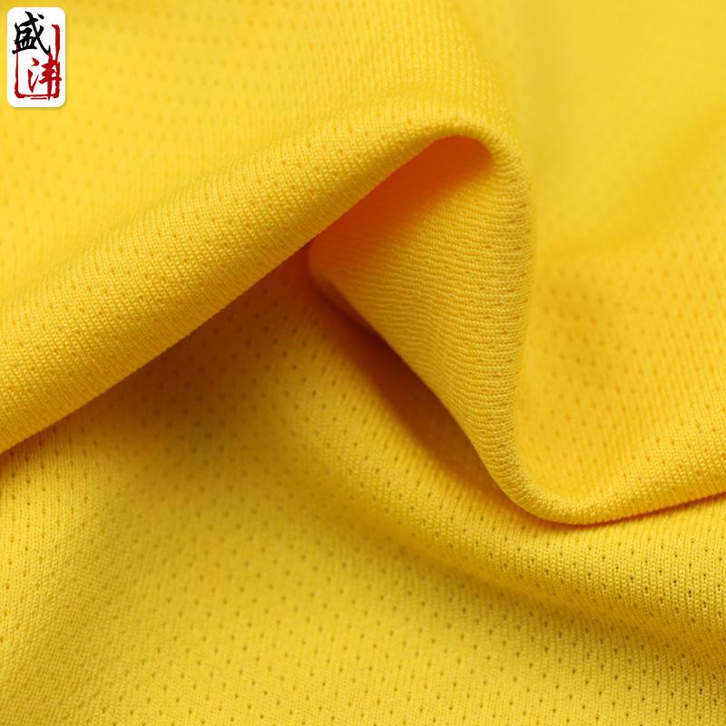 6172 # nhỏ dot dệt kim mắt chim lưới vải polyester nhanh chóng làm khô chức năng thể thao t-shirt vả