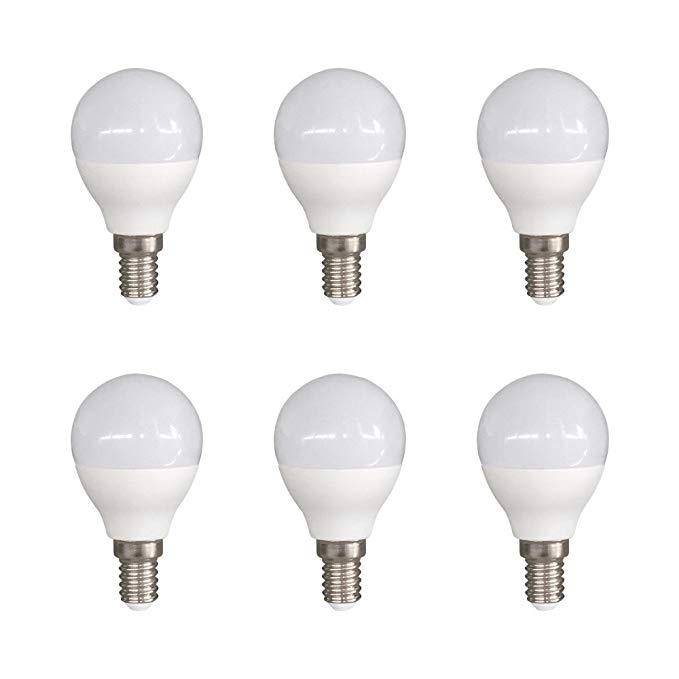 Bóng đèn LED Sigmaled E14,6 W, trắng ấm, 45 x 76 mm, 6 cái