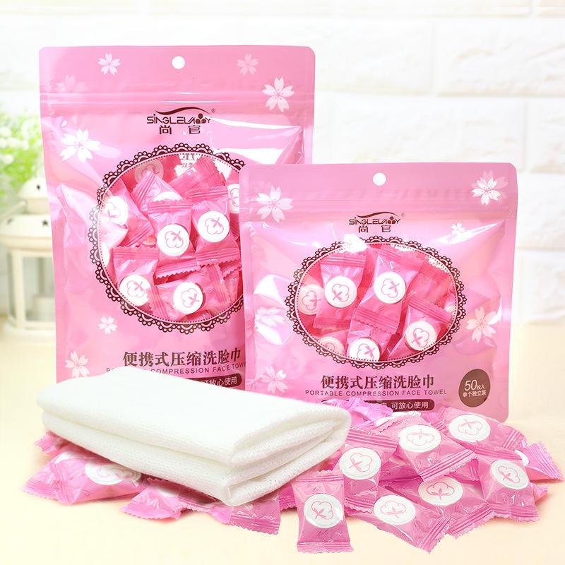 100 Túi dùng một lần nén khăn Bông du lịch đi du lịch xách tay khăn mặt vẻ đẹp làm sạch khăn vuông n