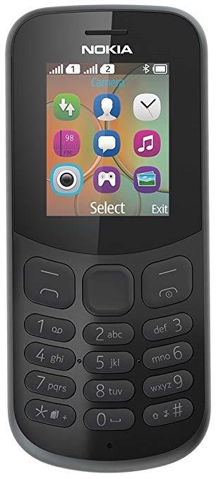 Nokia Nokia A00028486 130 điện thoại di động (dual SIM, đài FM, pin 1020 mAh giờ màu đen)