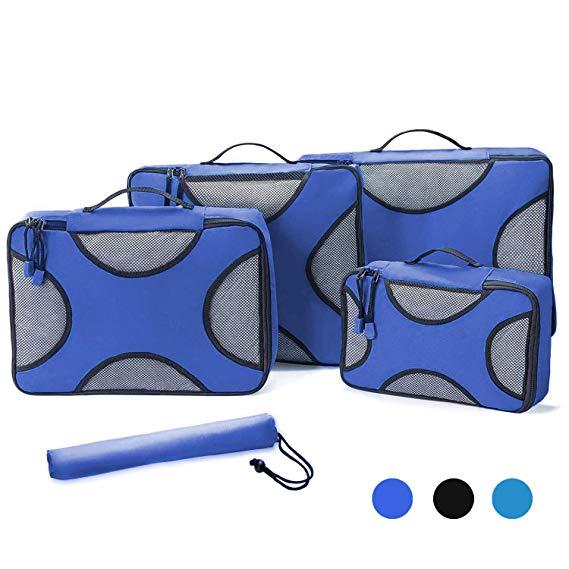 5 miếng lưu trữ túi, túi du lịch lưu trữ túi - đa chức năng phân loại quần áo túi màu xanh one_size