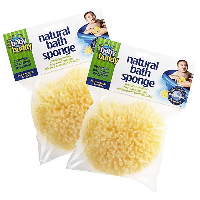Baby Buddy Natural Bath Sponge, 2 miếng