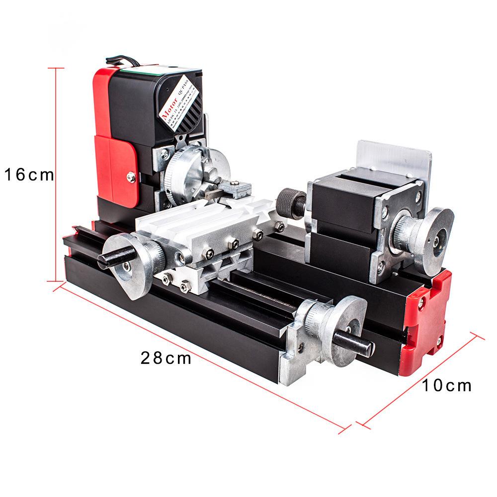 Kim loại đa chức năng vi máy công cụ [máy đơn] sáu-trong-một máy tiện