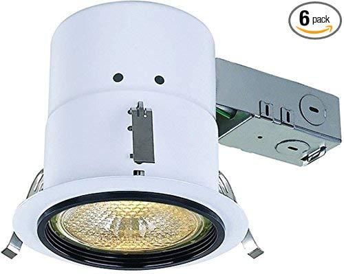 CANARM RN45RC2PHBK Bộ đèn lõm 11,43 cm không có lớp cách nhiệt màu đen phenolic, được điều chỉnh tốt