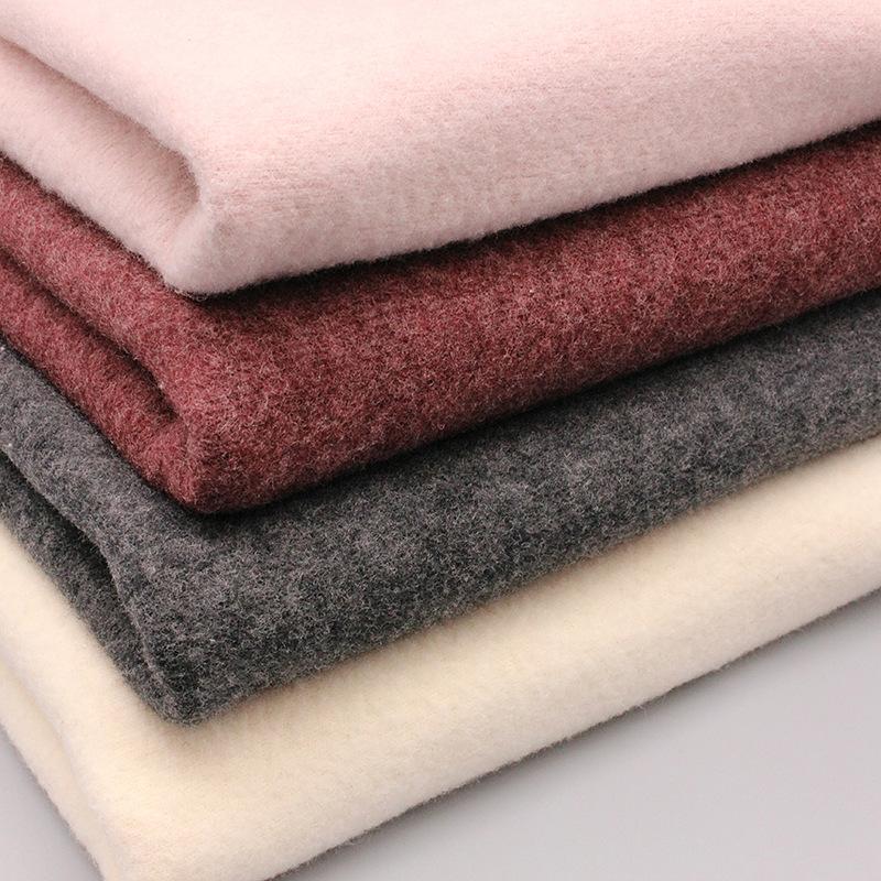 GL0099 mùa đông vải vải cotton ấm fleece lông cừu lông cừu len áo may mặc dệt kim vải bán buôn