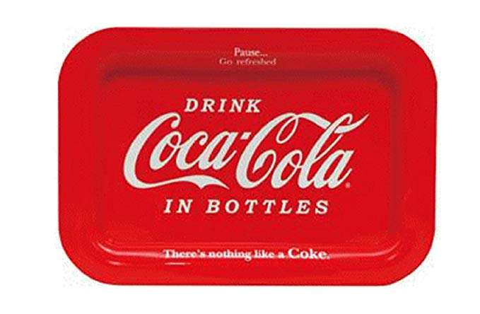 Coca Cola Khay Đỏ 38 × 26cm Coca-Cola Tinker Bell Trong Chai 0010032-0001