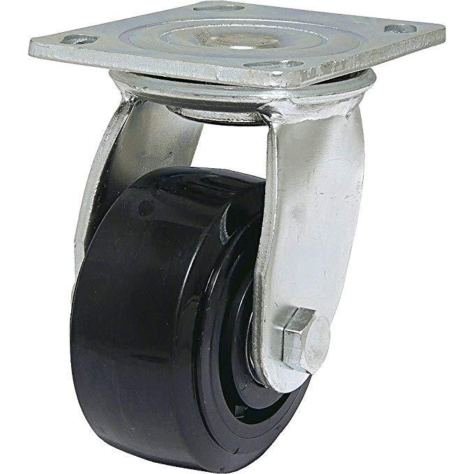 Phần cứng Richelieu - F26819 - Bánh xe phenol đen công nghiệp - Xoay không phanh - Bề mặt đen