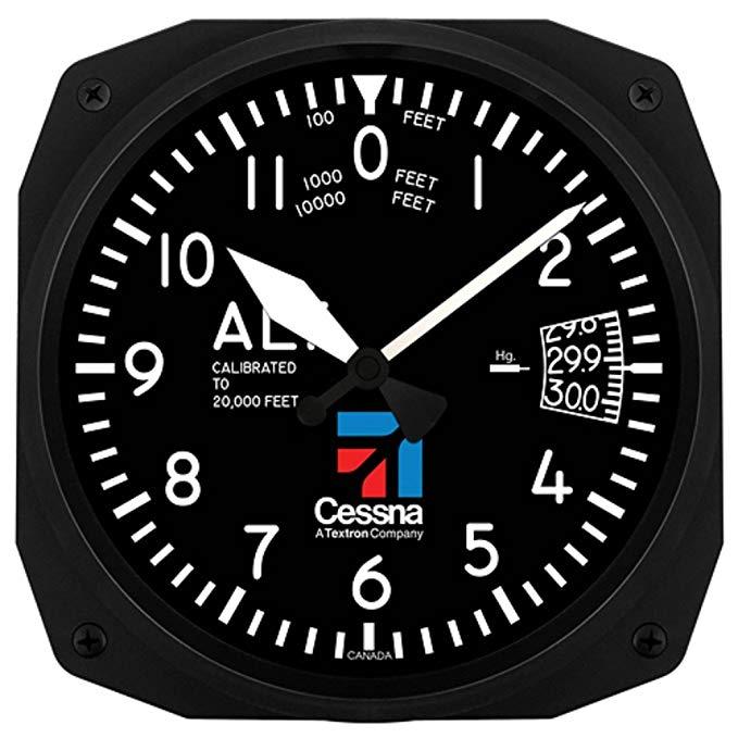 Trintec Aviation Cessna dụng cụ đo độ cao 12 giờ 25,4 cm đồng hồ treo tường 3060-10CES