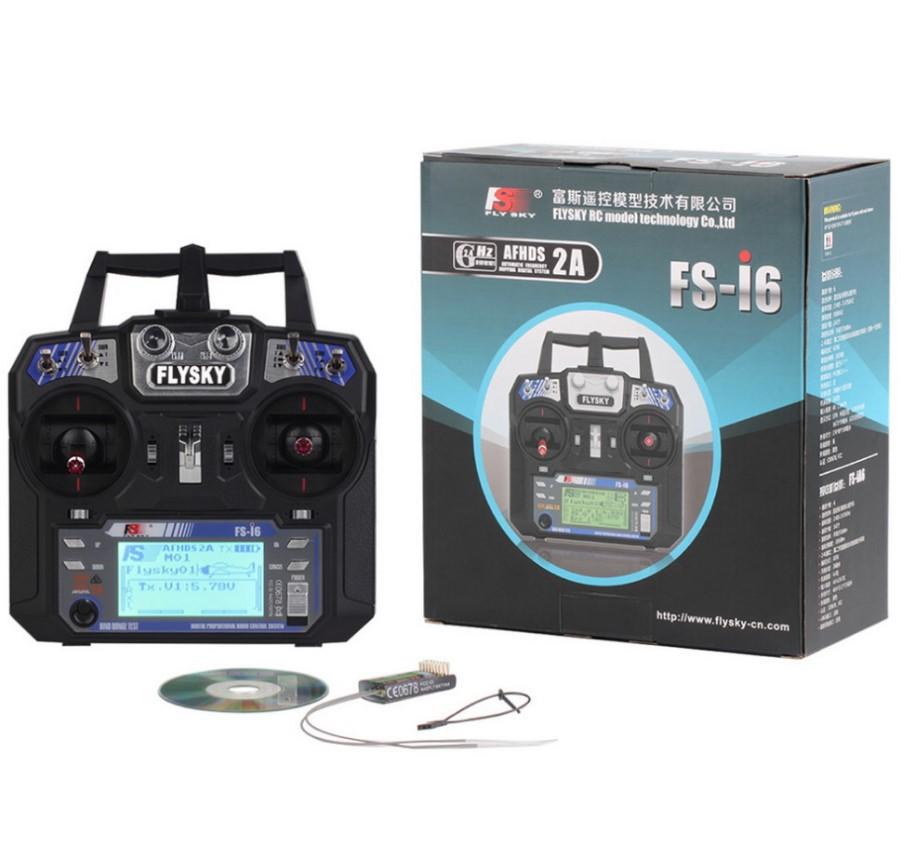 2.4G mô hình điều khiển từ xa fuss fs-i6 6- kênh điều khiển từ xa nhận máy bay trực thăng cánh cố đị