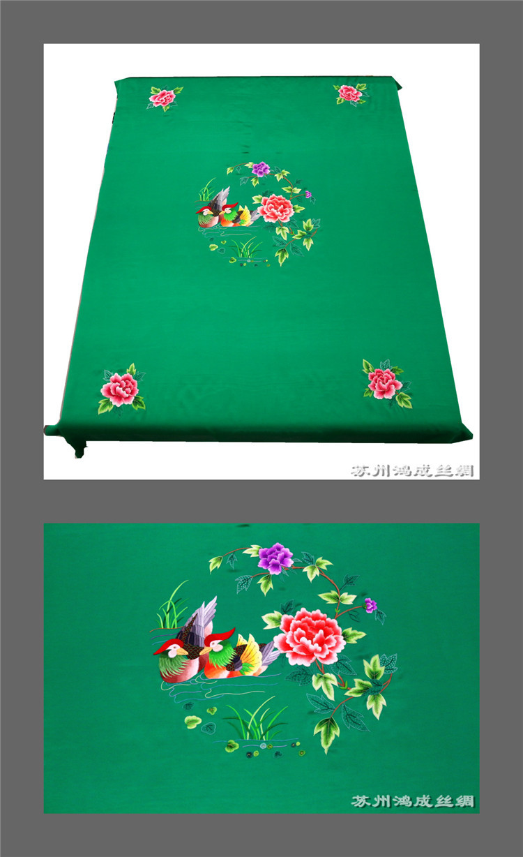 Silk fabric 100% mulberry silk 30 MMM crepe satin embroidery, hand embroidered fabric, bedding, mand