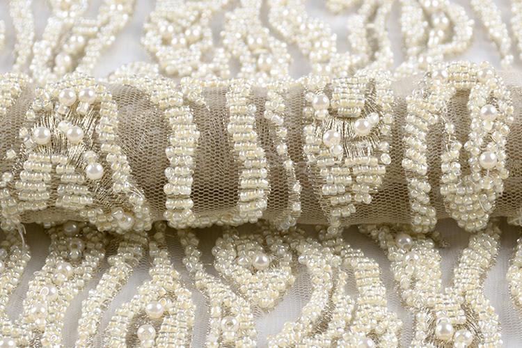 Heavy Industries thêu dệt vải thêu thủ công 18 mới ngâm hạt vải thêu vải áo thời trang làm riêng tư.