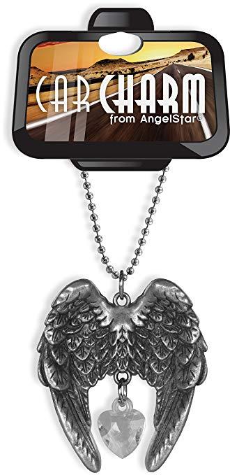 Người giám hộ Thiên Thần Xe Đồ Trang Sức Kim Loại Angel Wing 30.48 cm Cao 15485