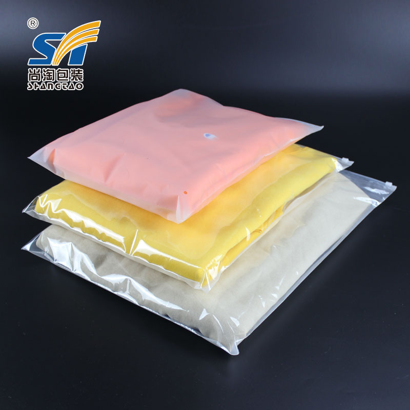Có thể được tùy chỉnh hai mặt matte PE dây kéo túi Đồ Lót quần áo bao bì nhựa tự niêm phong túi