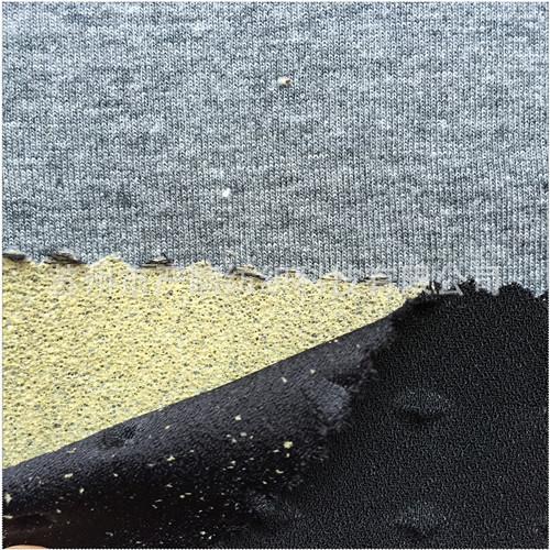 Ngọn lửa hỗn hợp không khí mặc áo bông tem số tầng không gian phức tạp đan len vải bông, bọt biển, t