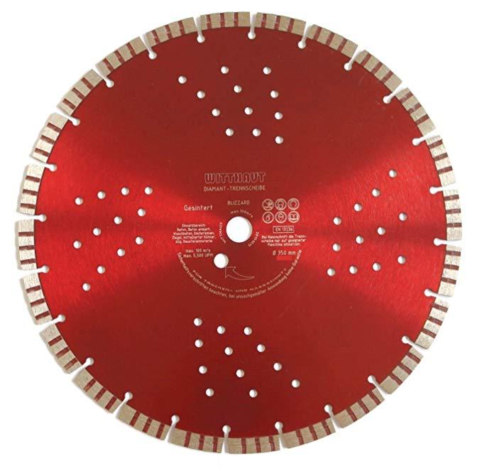 WITTHAUT Diamond Tool Đĩa kim cương, đường kính 350-25.40 mm, đen