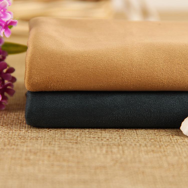 Sợi ngang dệt kim đan da lộn quần áo da lộn vải chà nhám nhuộm đồ chơi tinh tế gối vải tại chỗ