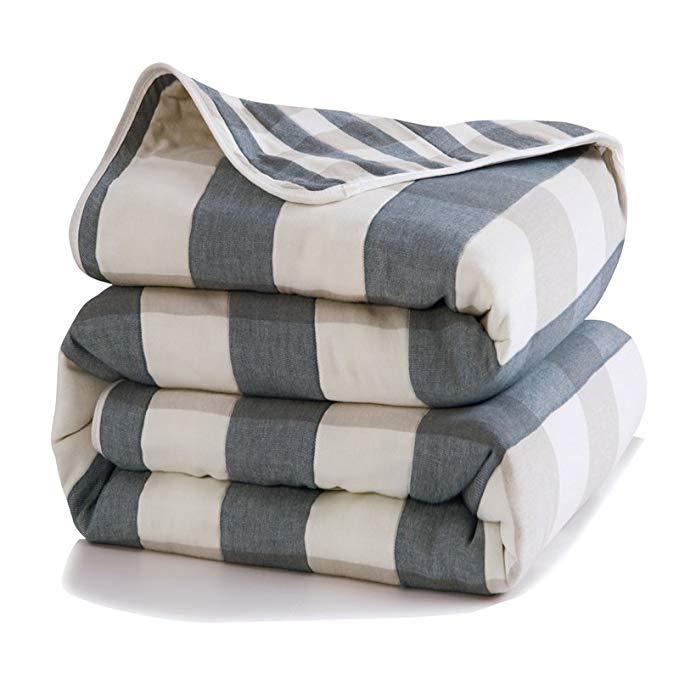 Xanlenss Xuan Lan Shi Sợi bông gạc cotton Ai Cập được dệt nhuộm bông gòn 6 lớp sợi bông nguyên chất