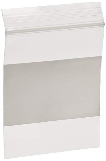 Bauxko 6,35 cm x 7,62 cm khối trắng nắp kéo túi nhựa, 4 Mil, 25 gói (x-PB3983-25)