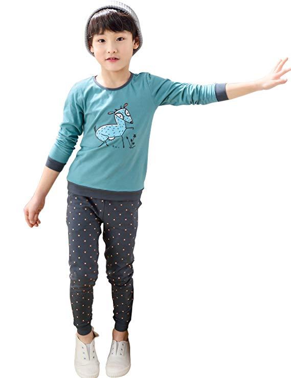 Bộ đồ trẻ em vải bông tay dài, chất liệu mềm mại, thoáng mát