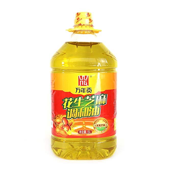 Wannian tribute đậu phộng mè pha trộn dầu 5L vật lý cách nhấn dầu thực vật ăn được dầu không biến đổ