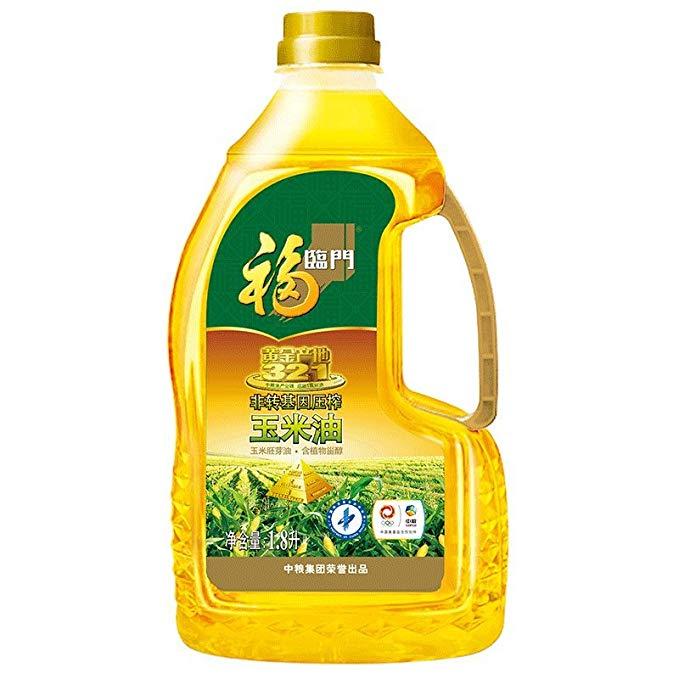 Fulinmen Non-GMO ép vàng nguồn gốc dầu ngô ngô mầm dầu phong phú trong Phytosterols (1.8L * 6 FCL)